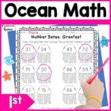 First Grade Ocean Math Worksheets