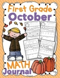 1st Grade October Math Journal