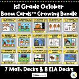 1st Grade October Themed Boom Cards™ Bundle