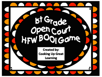 1st Grade Open Court Halloween BOO! game