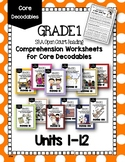 1st Grade Open Court Reading Decodable Worksheets: Units 1-12