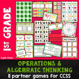 1st Grade Operations & Algebraic Thinking: 11 Math Partner Games for Common Core