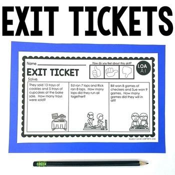 1st Grade Operations & Algebraic Thinking Exit Tickets