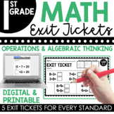 1st Grade Operations & Algebraic Thinking Exit Tickets (Ex
