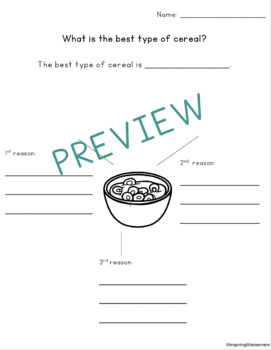 Opinion Writing! {Common Core Aligned}