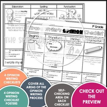 1st Grade Opinion Writing Checklist