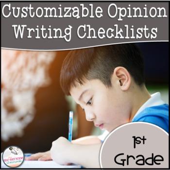 1st Grade Opinion Writing Checklist EDITABLE