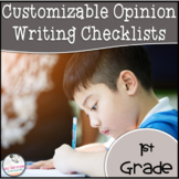 1st Grade Opinion Writing Checklist EDITABLE