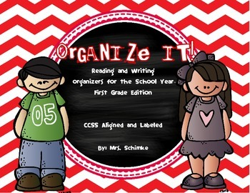 Reading and Writing Organizers for 1st grade: Informational and Literature