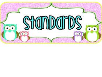 1st Grade Owl Standards VIRGINIA
