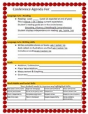 1st Grade Parent Teacher Conference Agenda - Spring Conferences