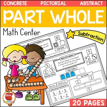 1st Grade Subtraction Bar Model Math Center