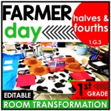 Partition Shapes Into Equal Parts | 1st Grade Farmer Class