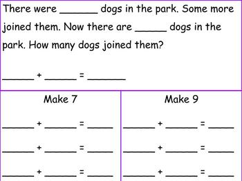 1st Grade Pearson Envision Math Exit Tickets Topic 1