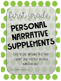 1st Grade Personal Narrative Supplements