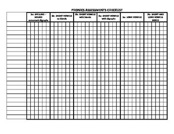 1st Grade Phonics Assessments