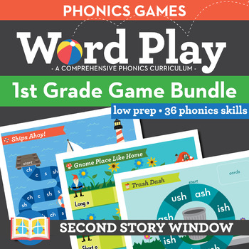 1st Grade Phonics Games • Words Their Way Games bundle • Word Work Centers