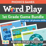 1st Grade Phonics Games • Words Their Way Games bundle • W