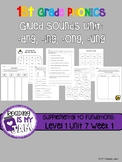 First Grade Phonics Glued Sound Activities:-ang, -ing, -on