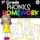 1st Grade Phonics Homework for the Whole Year