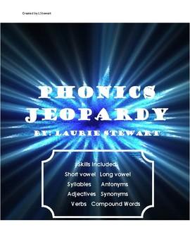 1st Grade Phonics Jeopardy