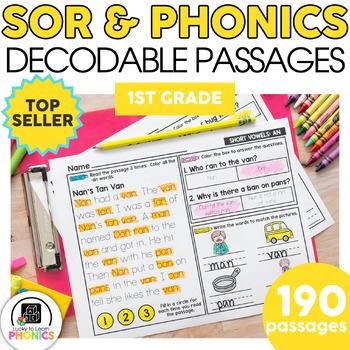 1st Grade Phonics Reading Passages | Phonics Mats Bundle | Phonics Worksheets