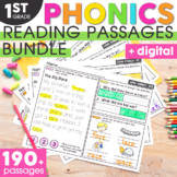 1st Grade Phonics Reading Passages | Phonics Mats Bundle | Phonics Worksheets