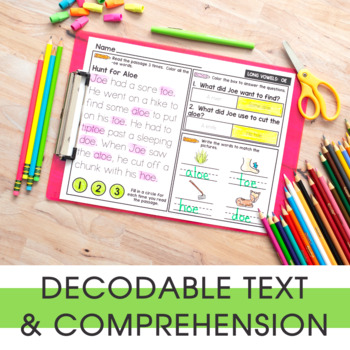 1st Grade Phonics Reading Passages | Digital & Printable | Distance Learning