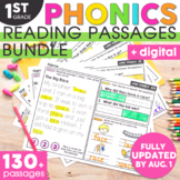 1st Grade Phonics Reading Passages | Digital & Printable |