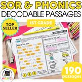 1st Grade Phonics Reading Passages   Phonics Mats Bundle  