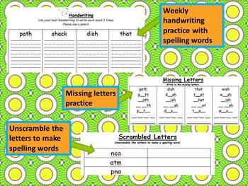 1st Grade--Phonics  / Spelling / Word Work #1 (Units 1 to 5)
