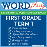 1st Grade Phonics and Chunk Spelling Curriculum Term 1