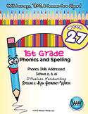 1st Grade Phonics and Spelling D'Nealian Week 27 (schwa a, ä, ei) {TEKS-aligned}