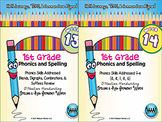 BUNDLE: 1st Grade Phonics and Spelling D'Nealian (Weeks 13-18)