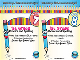 BUNDLE: 1st Grade Phonics and Spelling D'Nealian (Weeks 7-12) {TEKS-aligned}