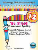 1st Grade Phonics and Spelling D'Nealian Week 12 (sh, wh, ph)