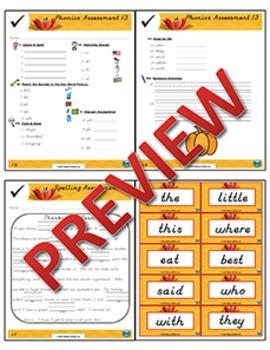 1st Grade Phonics and Spelling D'Nealian Week 13 (Review) {TEKS-aligned}