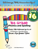 1st Grade Phonics and Spelling D'Nealian Week 16 (gn, kn,