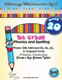 1st Grade Phonics and Spelling D'Nealian Week 20 (ea, Comp