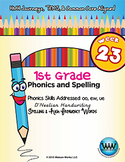 1st Grade Phonics and Spelling D'Nealian Week 23 (oo, ew, ue) {TEKS-aligned}
