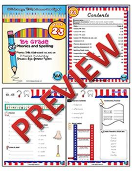 1st Grade Phonics and Spelling D'Nealian Week 23 (oo, ew, ue) {TEKS-aligned}
