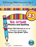 1st Grade Phonics and Spelling D'Nealian Week 23 (oo, ew, ue)