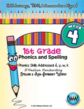 1st Grade Phonics and Spelling D'Nealian Week 4 (short e,