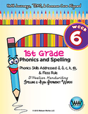 1st Grade Phonics and Spelling D'Nealian Week 6 (short a, short o, c, k, ck)