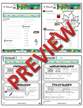 1st Grade Phonics and Spelling D'Nealian Week 7 (short e, short i, r, r blends)