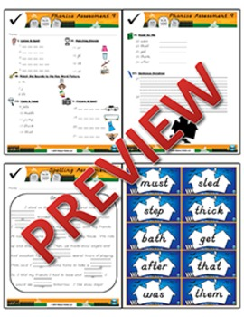 1st Grade Phonics and Spelling D'Nealian Week 9 (m, j, th) {TEKS-aligned}