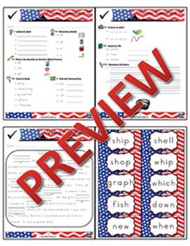 1st Grade Phonics and Spelling Zaner-Bloser Week 12 (sh, wh, ph) {TEKS-aligned}