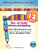 1st Grade Phonics and Spelling Zaner-Bloser Week 12 (sh, w