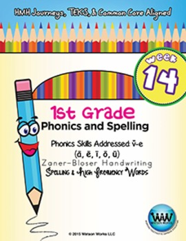 1st Grade Phonics and Spelling Zaner-Bloser Week 14 (long vowels VCe)