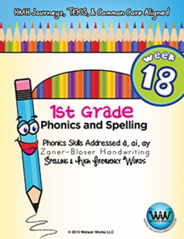 1st Grade Phonics and Spelling Zaner-Bloser Week 18 (long a, ai, ay)